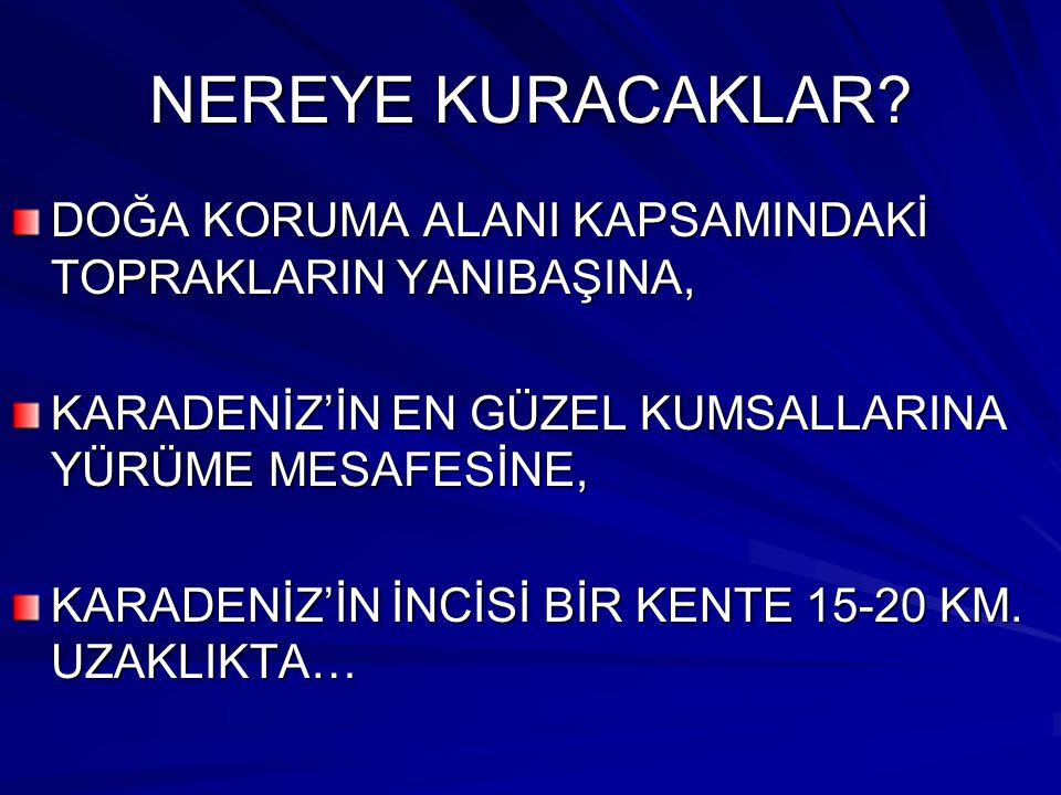 NEREYE KURACAKLAR.