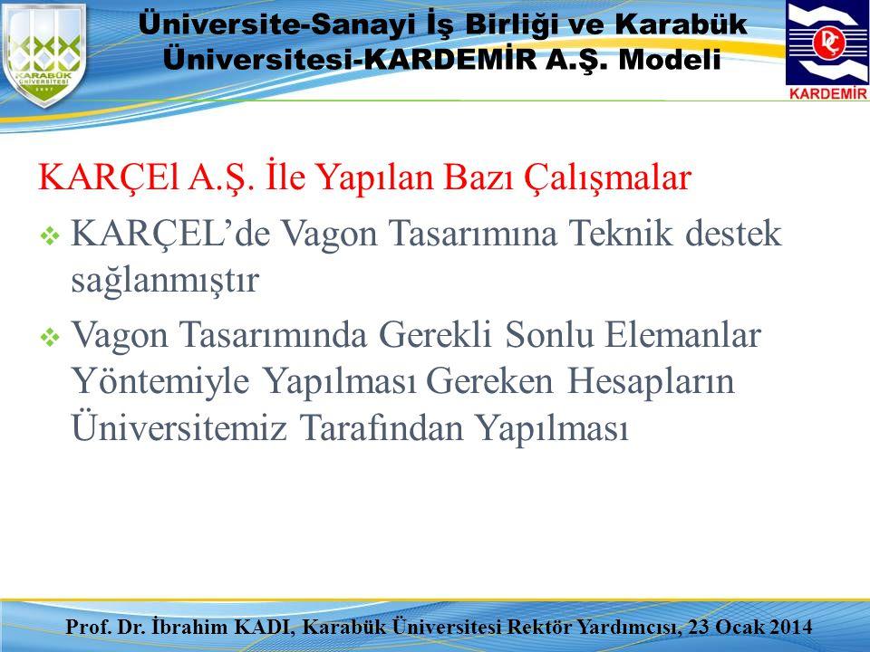 Üniversite-Sanayi İş Birliği ve Karabük Üniversitesi-KARDEMİR A.Ş. Modeli KARÇEl A.Ş. İle Yapılan Bazı Çalışmalar  KARÇEL'de Vagon Tasarımına Teknik