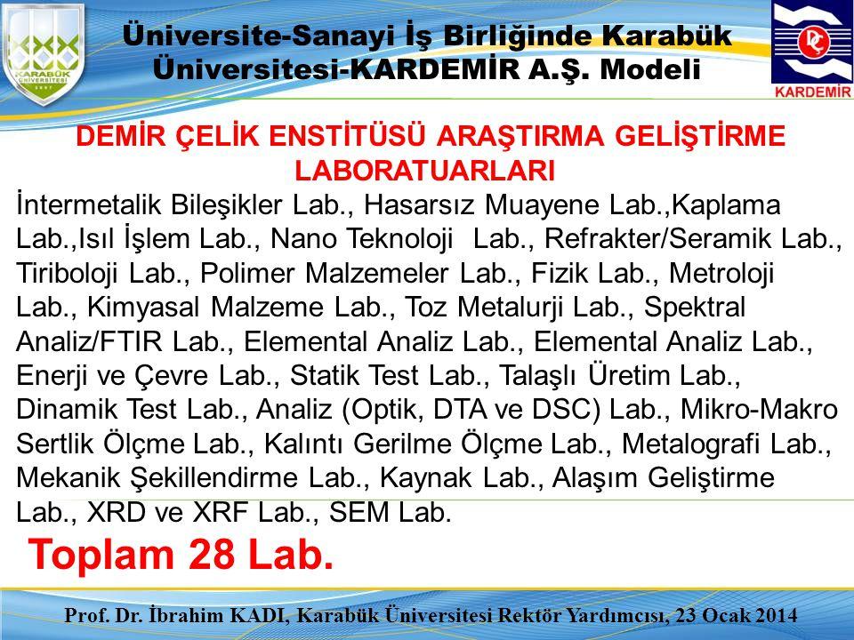 DEMİR ÇELİK ENSTİTÜSÜ ARAŞTIRMA GELİŞTİRME LABORATUARLARI İntermetalik Bileşikler Lab., Hasarsız Muayene Lab.,Kaplama Lab.,Isıl İşlem Lab., Nano Tekno