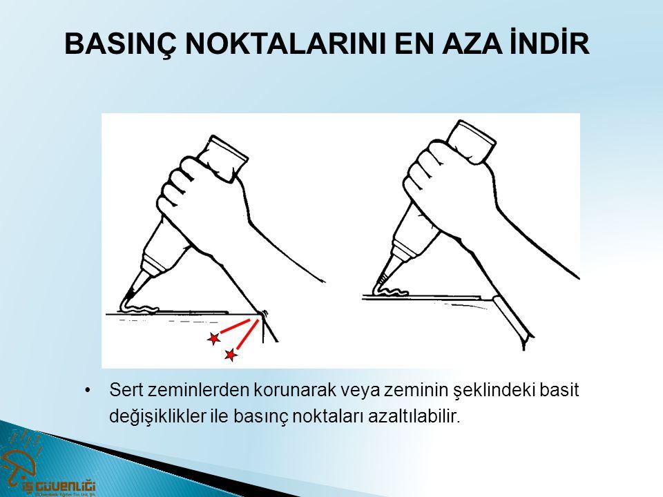 BASINÇ NOKTALARINI EN AZA İNDİR •Sert zeminlerden korunarak veya zeminin şeklindeki basit değişiklikler ile basınç noktaları azaltılabilir.