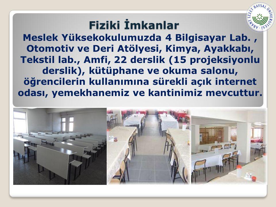Meslek Yüksekokulumuzda 4 Bilgisayar Lab., Otomotiv ve Deri Atölyesi, Kimya, Ayakkabı, Tekstil lab., Amfi, 22 derslik (15 projeksiyonlu derslik), kütüphane ve okuma salonu, öğrencilerin kullanımına sürekli açık internet odası, yemekhanemiz ve kantinimiz mevcuttur.