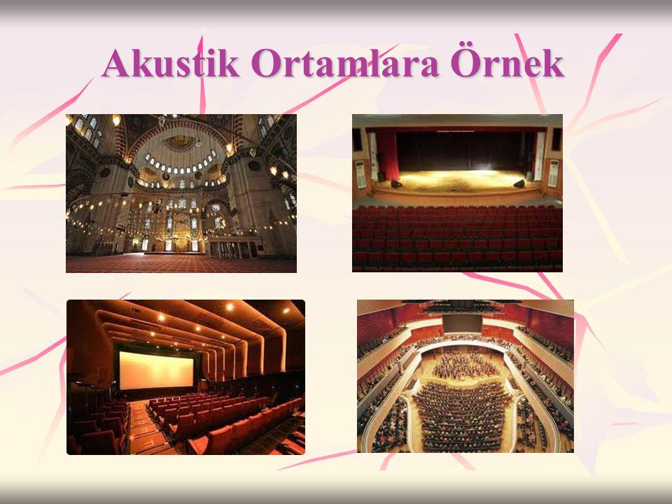 Akustik  Sinema,tiyatro,konser salonu, cami vb. yerlerde sesin bütün mekana net bir şekilde iletmesi istenir.  Bunun için sesin yankı yapmadan etraf
