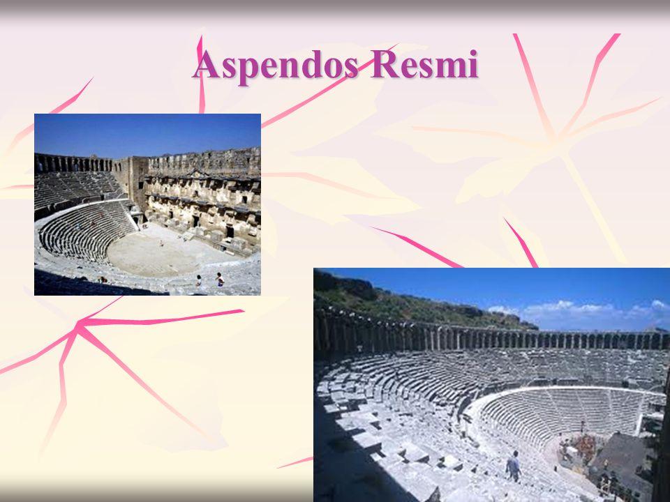 Aspendos Hakkında Bilgi(3)  Üst caveanın arkasını 59 kemerden oluşan geniş bir galeri boydan boya çevirmektedir. Caveanın iki tarafında girişlerin üz
