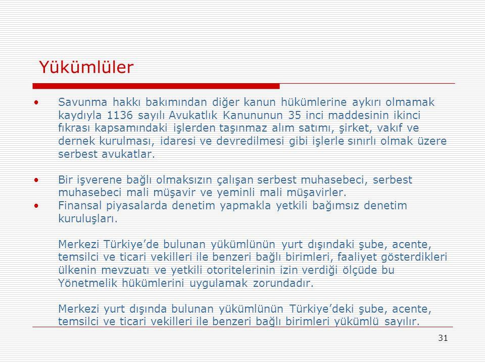 31 •Savunma hakkı bakımından diğer kanun hükümlerine aykırı olmamak kaydıyla 1136 sayılı Avukatlık Kanununun 35 inci maddesinin ikinci fıkrası kapsamı