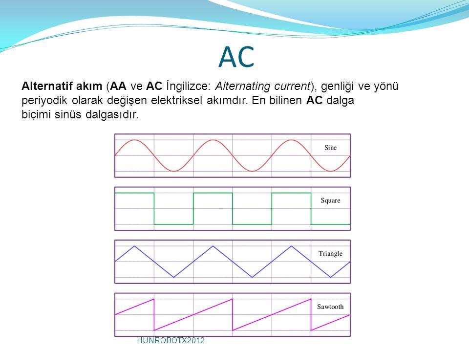 AC Alternatif akım (AA ve AC İngilizce: Alternating current), genliği ve yönü periyodik olarak değişen elektriksel akımdır.