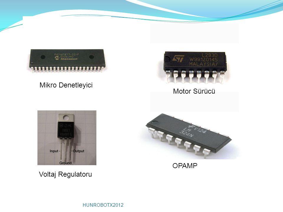 Mikro Denetleyici Motor Sürücü Voltaj Regulatoru OPAMP HUNROBOTX2012