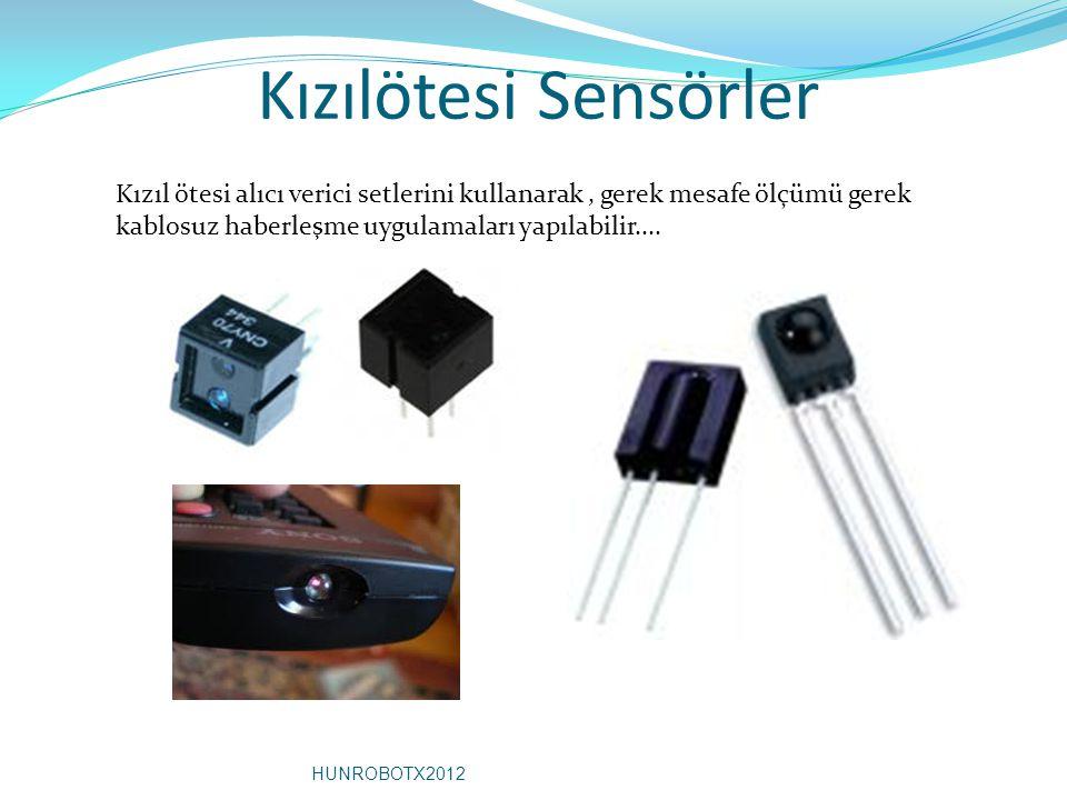 Kızılötesi Sensörler Kızıl ötesi alıcı verici setlerini kullanarak, gerek mesafe ölçümü gerek kablosuz haberleşme uygulamaları yapılabilir.... HUNROBO