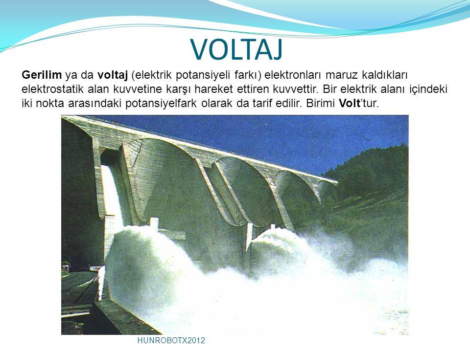 VOLTAJ Gerilim ya da voltaj (elektrik potansiyeli farkı) elektronları maruz kaldıkları elektrostatik alan kuvvetine karşı hareket ettiren kuvvettir. B