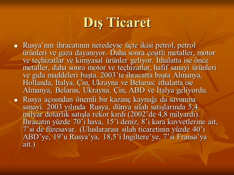 Enerji  Türkiye ile Rusya Federasyonu arasında 1980 sonrası,enerji alanında yapılan işbirliği,iki ülke arasındaki ekonomik ilişkilerin gelişmesinde önemli rol oynamıştır.2003 yılında Mavi Akım Anlaşması çerçevesinde Rusya'dan ilave doğal gaz alımının başlaması iki ülke arasındaki dış ticaret hacmini arttırmıştır.