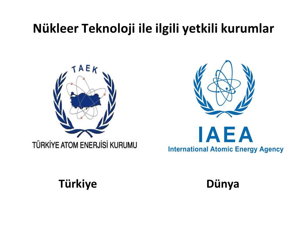 Nükleer Teknoloji ile ilgili yetkili kurumlar Türkiye Dünya