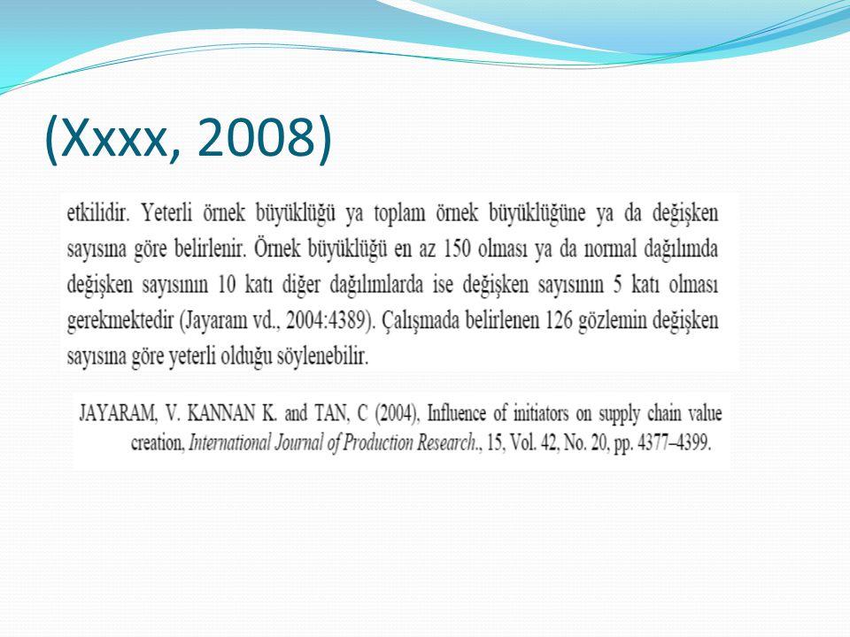 (Xxxx, 2008)