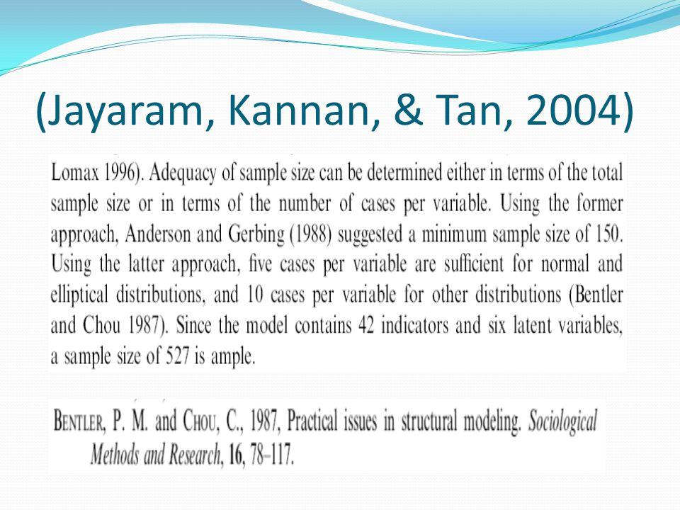 (Jayaram, Kannan, & Tan, 2004)