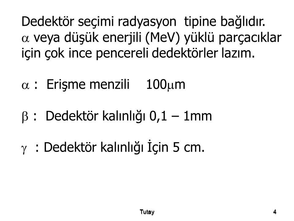 Tutay15 Menzil ve enerji arasındaki ilişki kuvantum mekaniksel hesaplama ile elde edilir.