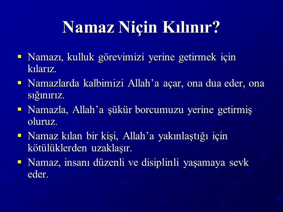 Namazın Sünnetleri (devamı)  Selâmda Esselâmü aleyküm ve rahmetullah demek.