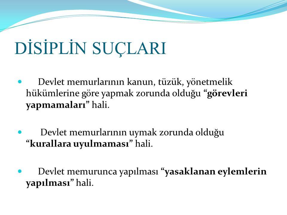TAKDİR HAKLARI  Disiplin Amirlerinin üç çeşit takdir hakkı bulunmaktadır.