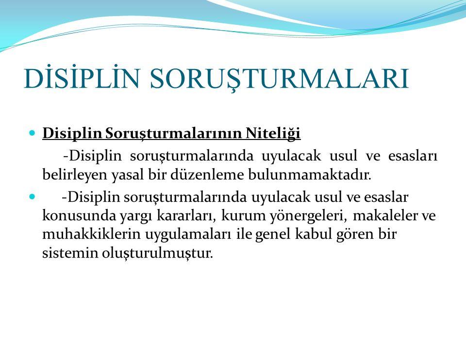 BAZI KARARLAR (5)  -Disiplin cezasını doğuran eylemin meydana geldiği tarihten sonra yürürlüğe giren ve aleyhe olan taşıyan mevzuat hükümleri uygulanmaz.