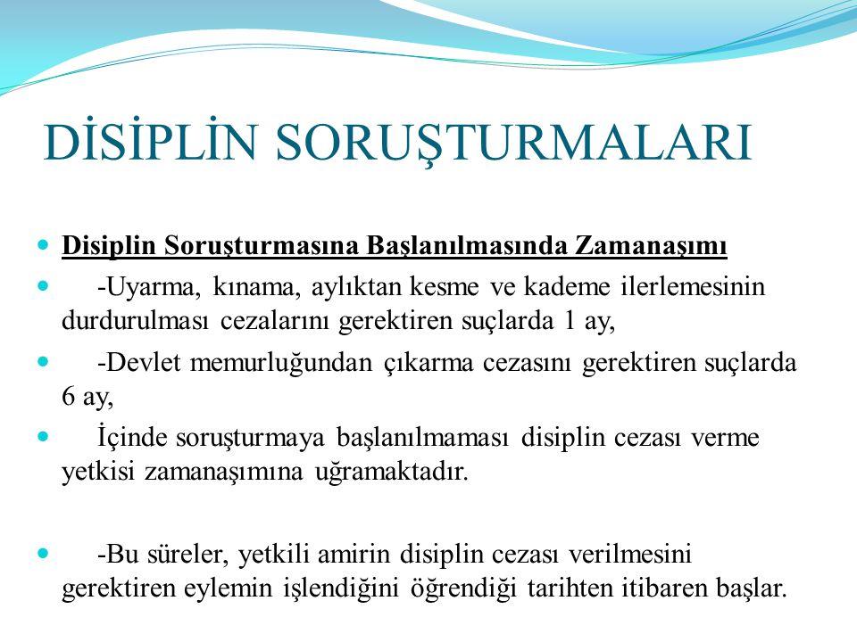 DİSİPLİN KURULLARI  Disiplin Kurullarının Oluşumu  -Başbakanlık ve bakanlıklar ile bağlı kuruluşlarındaki Yüksek Disiplin Kurulları ile Merkez Disiplin Kurulları, bir başkan ve dört üyeden oluşurlar.