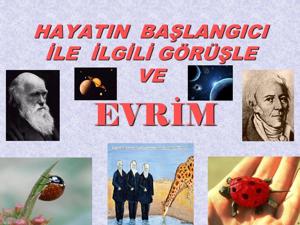 • Darwin'in evrim görüşünün temeli,onun evcil türler arasındaki değişiklikler üzerindeki çalışmalarına kadar iner.Farklı özellikteki güvercinleri çiftleştirerek, yeni güvercin çeşidi elde etmiştir.
