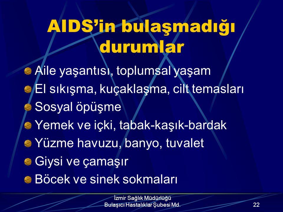 İzmir Sağlık Müdürlüğü Bulaşıcı Hastalıklar Şubesi Md.21 Sakın Unutma!!! Alkol, esrar, eroin, kokain, amfetamin gibi uyuşturucular doğru ve sağlıklı d