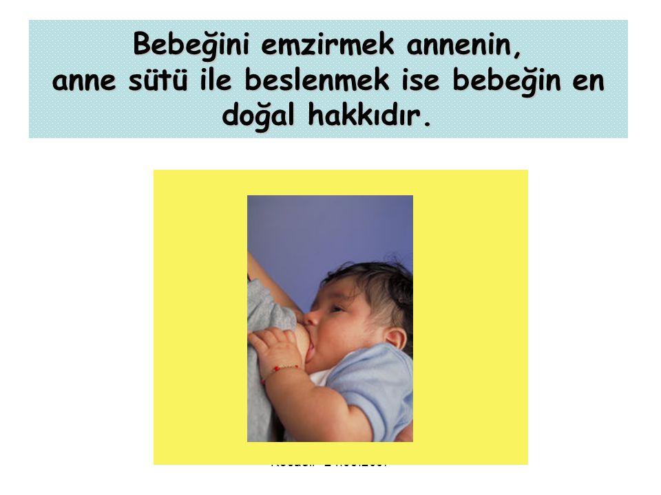 Kocaeli - 24.09.2007 Bebeğini emzirmek annenin, anne sütü ile beslenmek ise bebeğin en doğal hakkıdır.