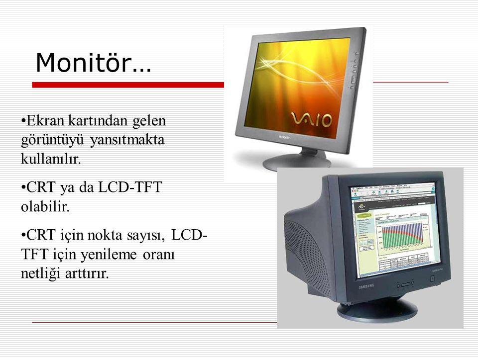Çevre Cihazları (Giriş Üniteleri) Klavye  Üzerinde bulunan alfa- nümerik tuşlar yardımı ile bilgisayar veri girişi yapmayı sağlayan çevre ünitesidir.