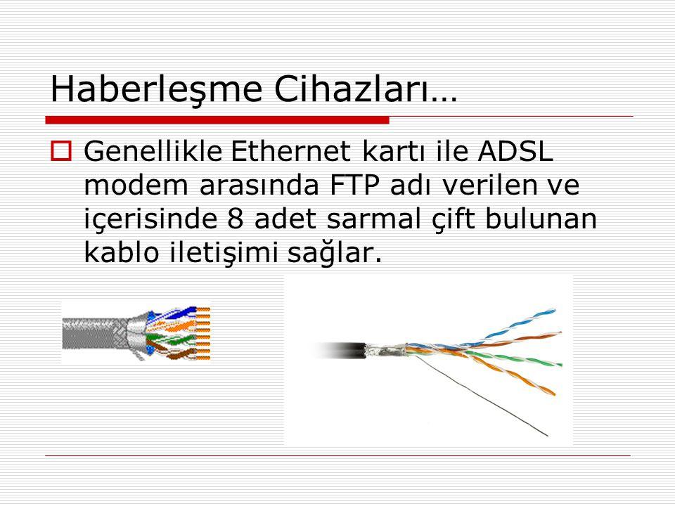 Haberleşme Cihazları…  Bazı durumlarda haberleşme kablosuz (wireless) ya da USB kablo ile sağlanabilir.Bu durumda ethernet kartı wireless olmak zorundadır ya da ethernet kartı kullanmadan USB bağlantı noktası ile MİB'ne ulaşılır.