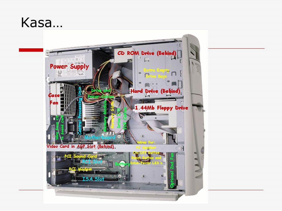 Ekran Kartı… •Bilgisayarda bulunan verilerin kablolar yardımıyla monitöre iletilerek görüntü haline dönüştürülmesini sağlar.