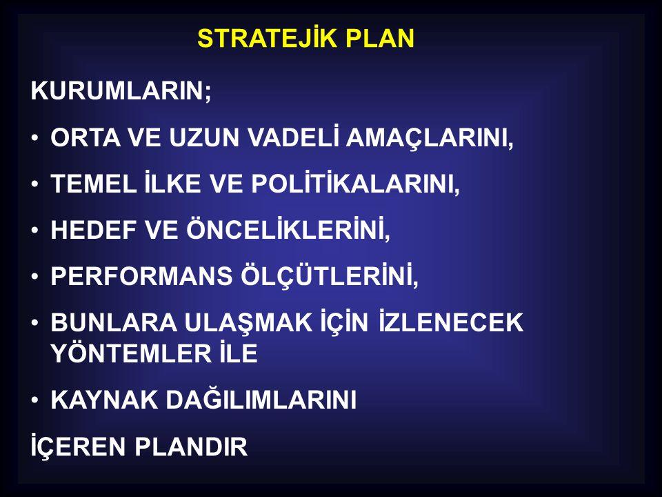 ZAMAN PLANI Stratejik planlama zaman alıcı bir süreçtir.