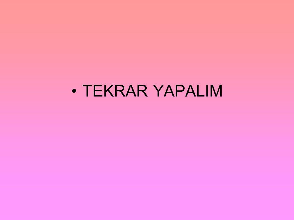 •TEKRAR YAPALIM