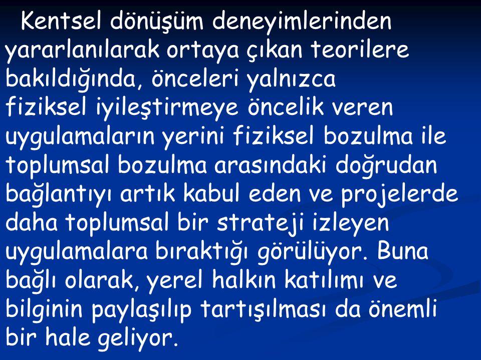 http://www.arkitera.com/g67- kentseldonusum.html http://www.stratejikboyut.com/hab er/kentsel-donusumun-firsatlari-ve- riskleri--28260.html http://www.haber7.com/haber/201010 17/Istanbuldaki-Kentsel-Donusum- projeleri.php www.ibb.gov.tr www.mimarlarodasi.org.tr