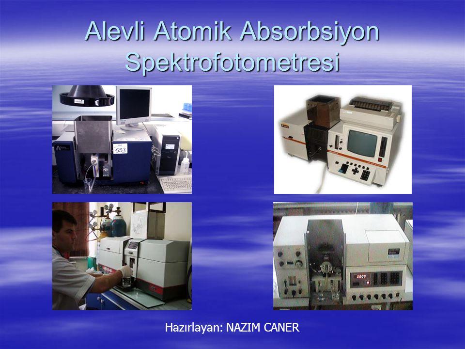 Atomik Absorbsiyon Atomların ışık enerjisini soğurması olayı atomik absorbsiyon (soğurma) olarak tanımlanır.