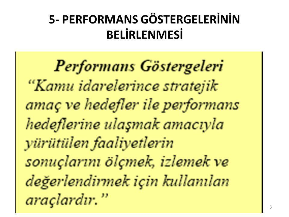 Performans Hedefi • Performans hedefleri, stratejik planda yer alan amaç ve hedeflerin bütçe döneminde kaynak tahsis edilerek erişilmesi arzulanan kısmını ifade etmektedir.