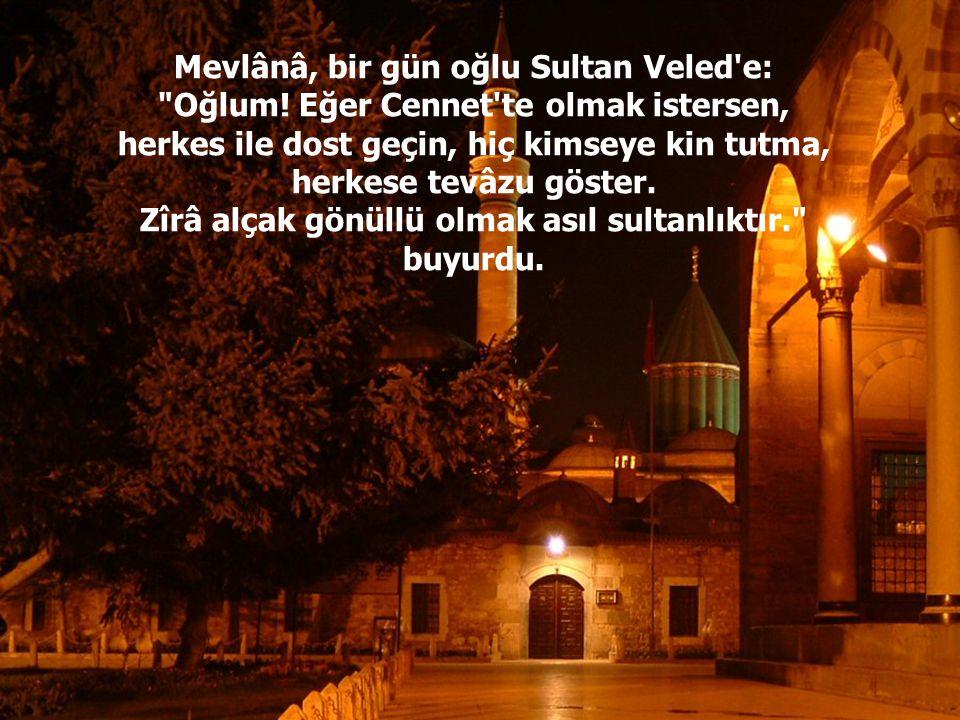 Mevlânâ, bir gün oğlu Sultan Veled'e: