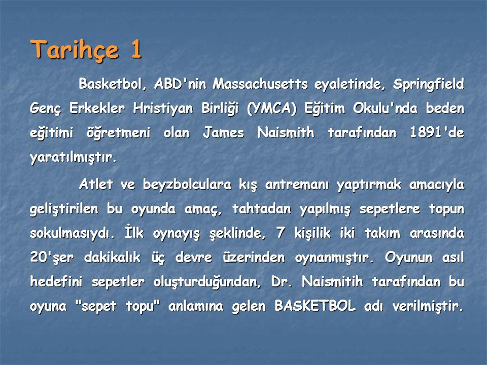 Tarihçe 1 Basketbol, ABD'nin Massachusetts eyaletinde, Springfield Genç Erkekler Hristiyan Birliği (YMCA) Eğitim Okulu'nda beden eğitimi öğretmeni ola