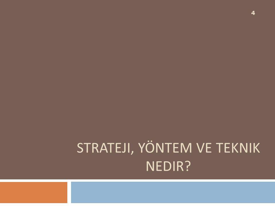 Sunuş yoluyla öğretim stratejisini kullanarak örneğin donanım ve yazılım kavramlarını öğreteceğiz.