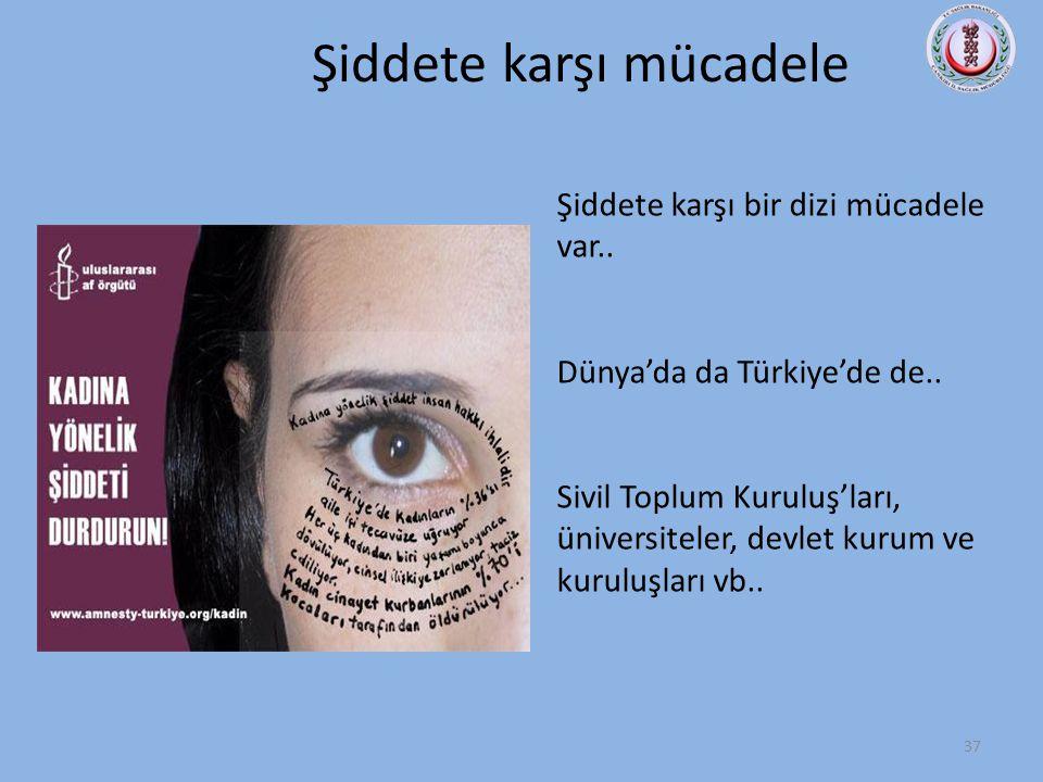 Sivil Toplum Kuruluşları • Kadın Danışma Merkezleri Dayanışma anlayışı esastır. -Telefon/yüz yüze başvuru -Barınma, hukuki, psikolojik danışmanlık -İş
