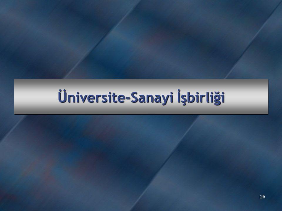 Üniversite-Sanayi İşbirliği 26