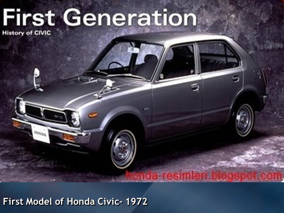 First Model of Honda Civic- 1972