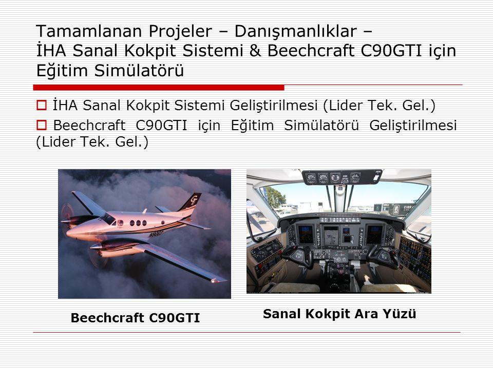 Tamamlanan Projeler – Danışmanlıklar – İHA Sanal Kokpit Sistemi & Beechcraft C90GTI için Eğitim Simülatörü  İHA Sanal Kokpit Sistemi Geliştirilmesi (Lider Tek.