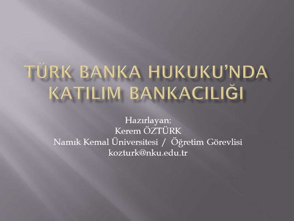 Hazırlayan: Kerem ÖZTÜRK Namık Kemal Üniversitesi / Öğretim Görevlisi kozturk@nku.edu.tr