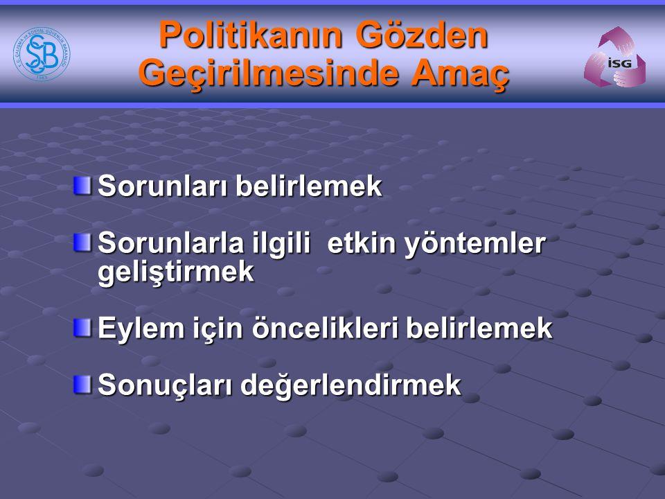 Ulusal Politika Düzeyinde İş Sağlığı Güvenliği Konseyi Üçlü Danışma Kurulu 4857-114 (R.G.