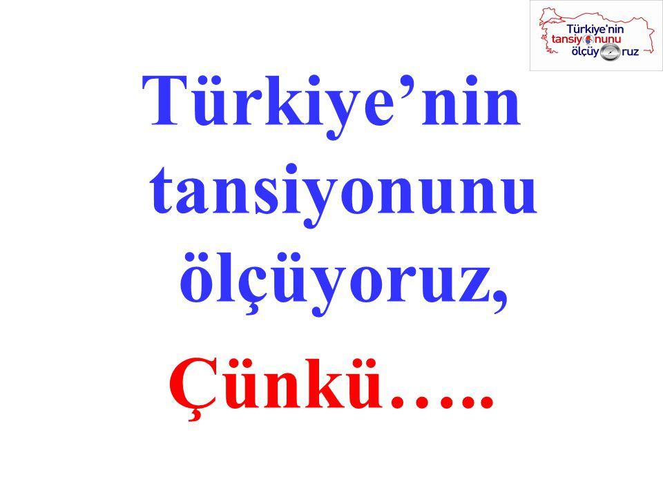 Türkiye'nin tansiyonunu ölçüyoruz, Çünkü…..