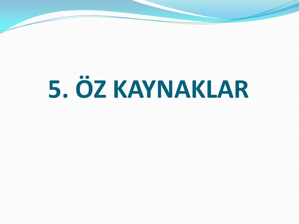5. ÖZ KAYNAKLAR