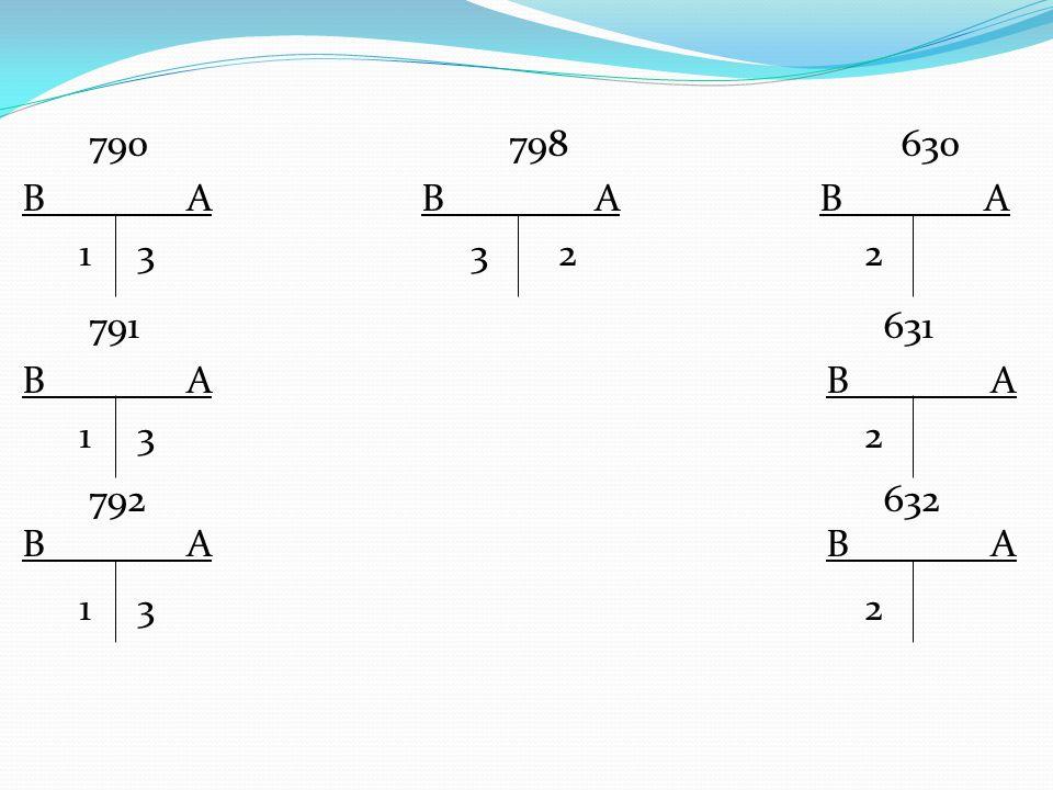 790 798 630 B A B A B A 1 3 3 2 2 791 631 B A 1 3 2 792 632 B A 1 3 2