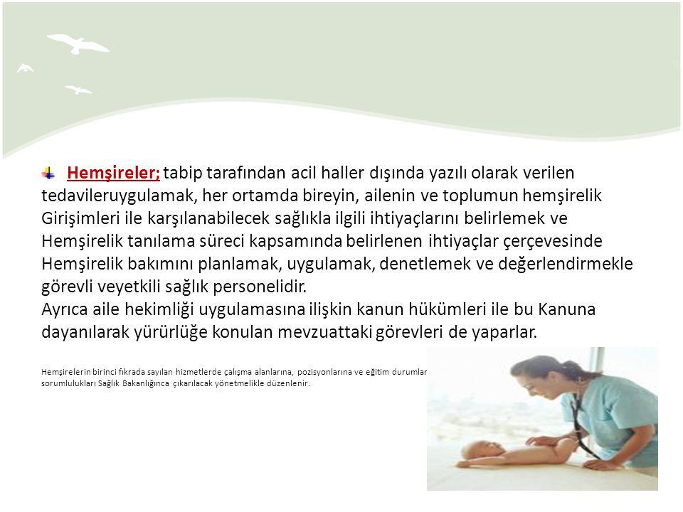 HALK SAĞLIĞI HEMŞİRELİĞİ 5) Okul Sağlığı Hemşiresi: j) Düzenli periyodik olarak okulun sağlık raporunu oluşturur ve okul idaresine bildirir.