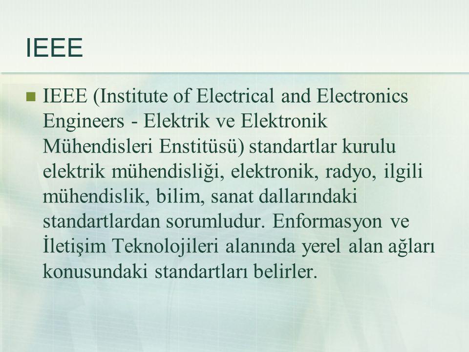 IEEE  IEEE (Institute of Electrical and Electronics Engineers - Elektrik ve Elektronik Mühendisleri Enstitüsü) standartlar kurulu elektrik mühendisli