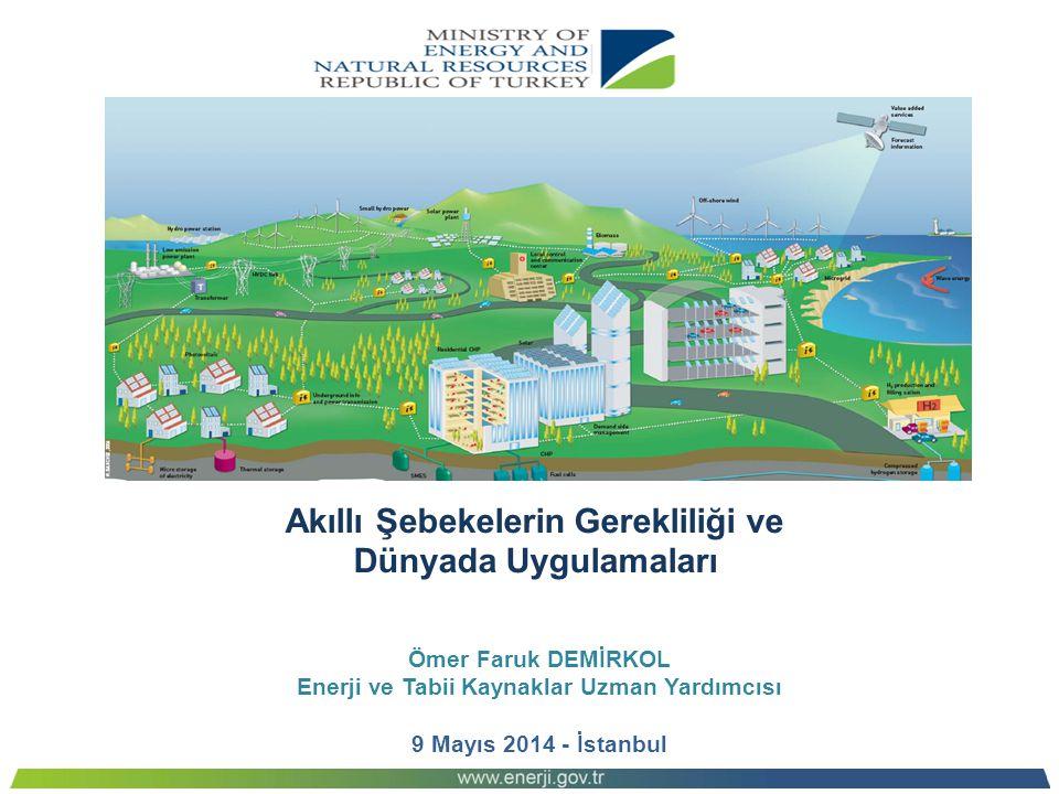Akıllı Şebekelerin Gerekliliği ve Dünyada Uygulamaları Ömer Faruk DEMİRKOL Enerji ve Tabii Kaynaklar Uzman Yardımcısı 9 Mayıs 2014 - İstanbul