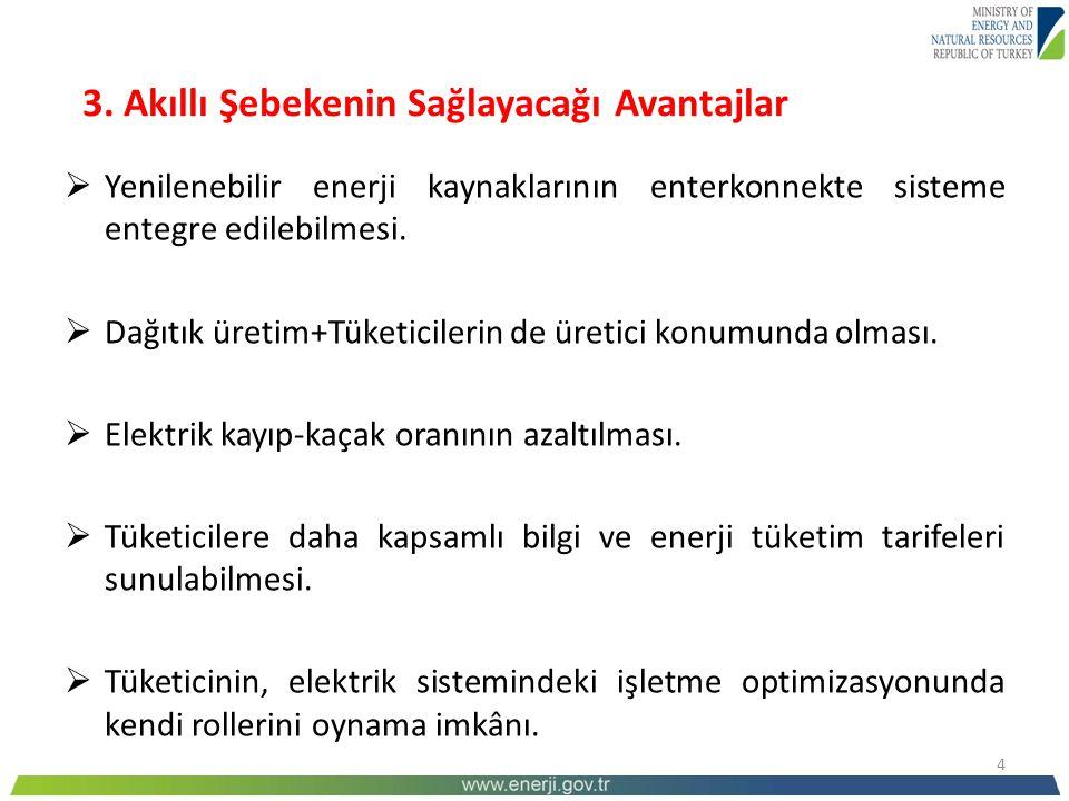 15 5.Türkiye'de akıllı şebeke çalışmaları  Enerji Verimliliği Strateji Belgesi'nde (2012-2023).