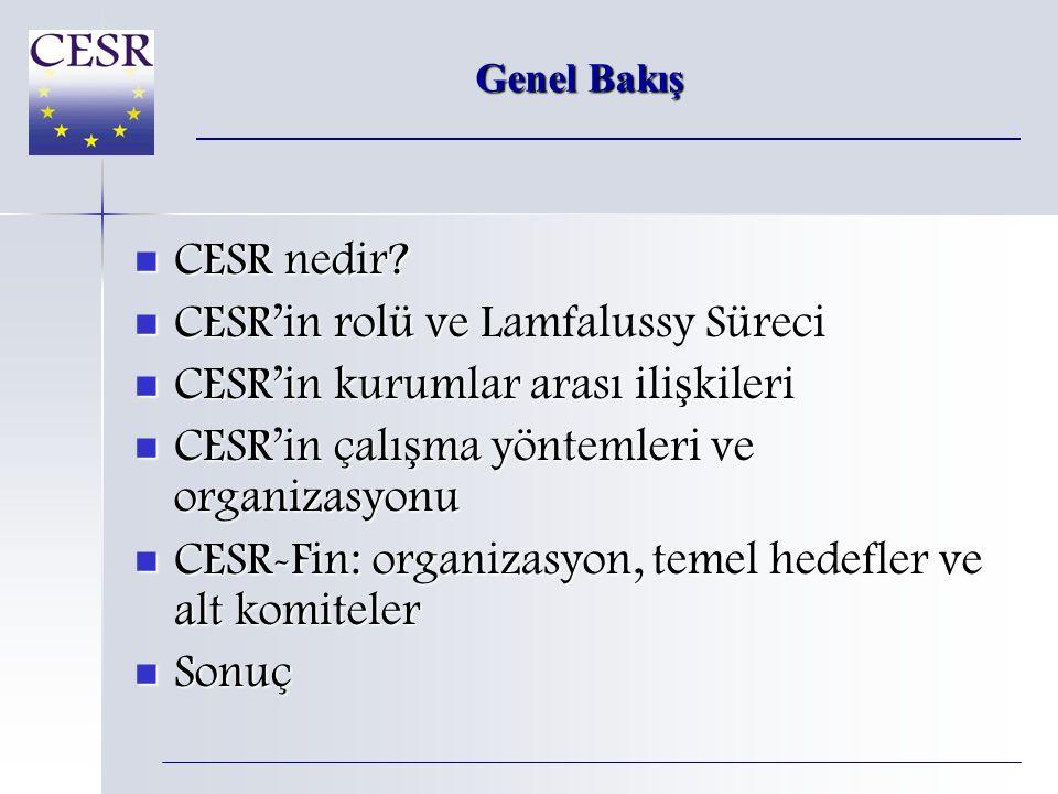 Genel Bakış  CESR nedir.