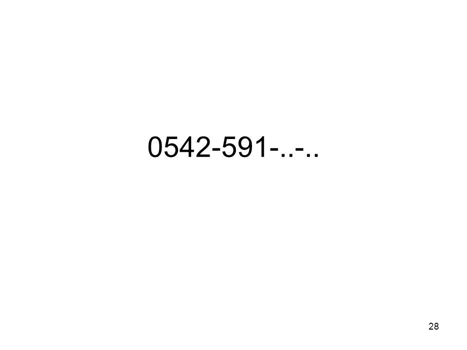 28 0542-591-..-..